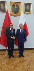 M. Habib El Malki s'entretient à Varsovie avec les présidents de la Diète et du Sénat polonais