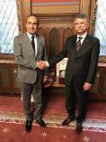 السيد رئيس مجلس النواب يلتقي نظيره المجري.