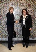 السيدة حياة بوفراشن نائبة رئيس مجلس النواب تستقبل سفبرة رومانيا بالرباط